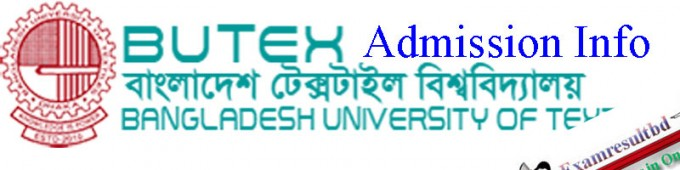 BUTEX Admission Circular 2017