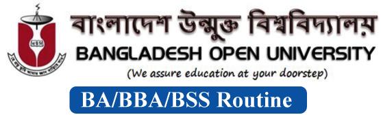 BOU BSS/BA/BBS/BBA Routine