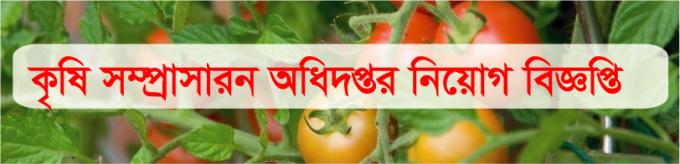 Agriculture Extension Department Job Circular