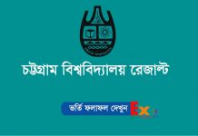 Chittagong University Admission Result