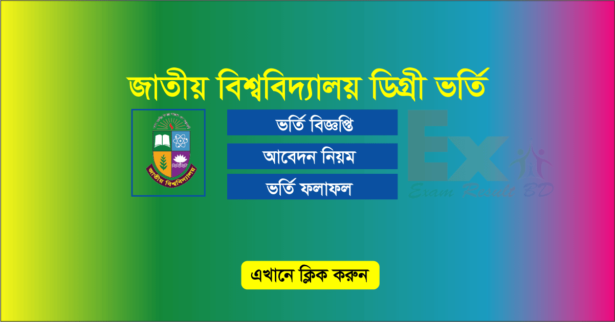 National University Degree Admission 1st Merit list