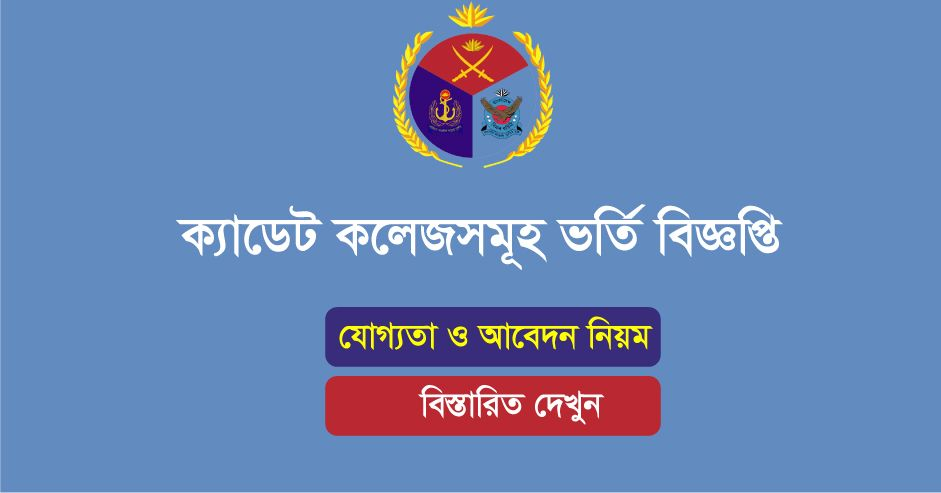 Cadet Colleges Class 7 Admission Circular
