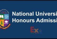 NU Honours Admission Circular