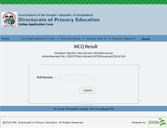 Primary Teacher Result