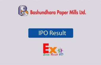 Bashundhara Paper mills IPO Result