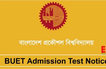 BUET Admission Test Notice