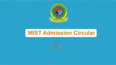 MIST Admission Circular