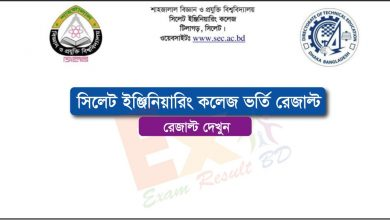 Sylhet Engineering College Admission Result