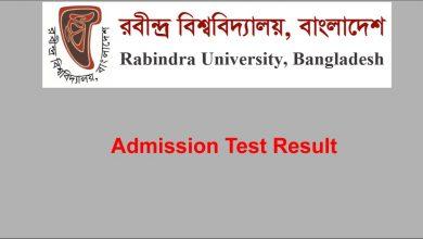 RUB Admission Result